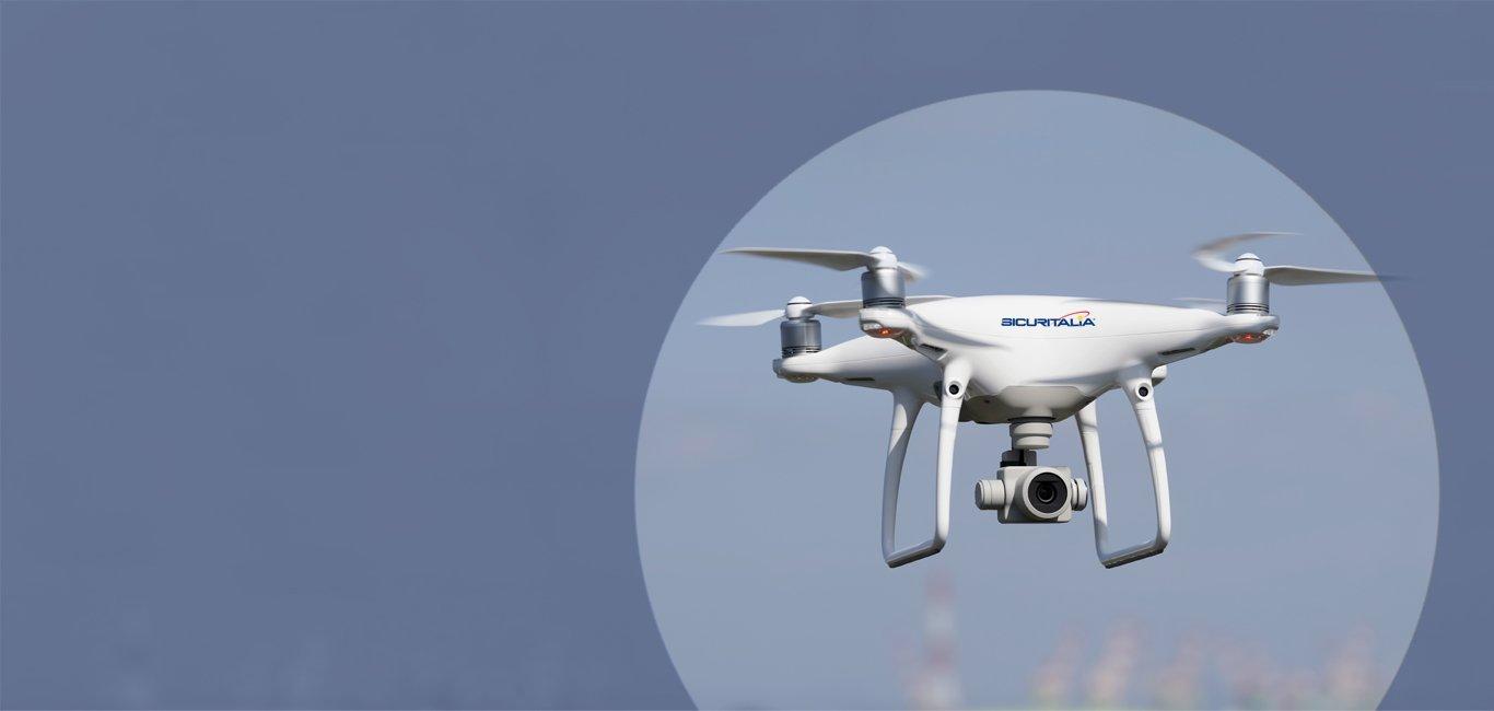 Videosorveglianza con droni terra e aria