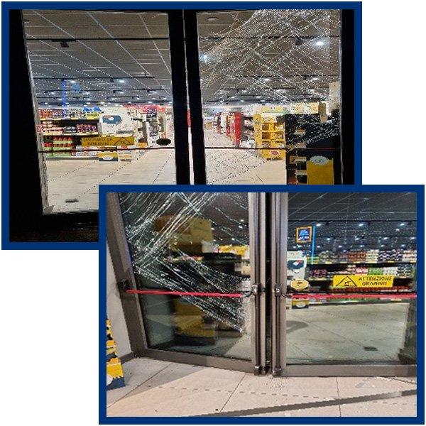 Milano. Lanciano auto contro supermercato